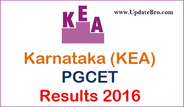 karnataka pgcet results 2016